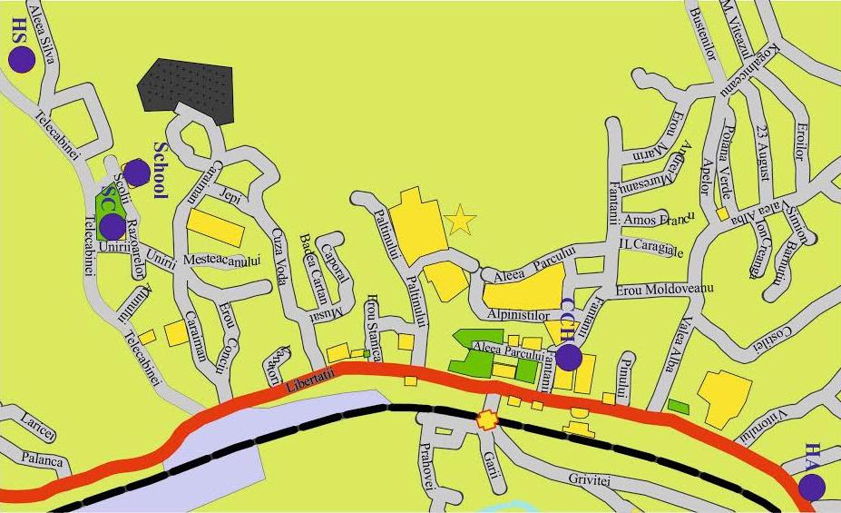 Busteni map